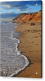 Gayhead Cliffs Marthas Vineyard Acrylic Print