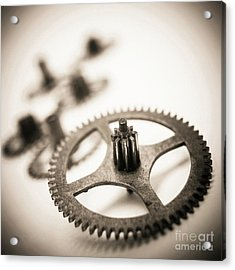 Gear Wheels. Acrylic Print by Bernard Jaubert