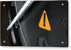 General Warning Dashboard Light Acrylic Print
