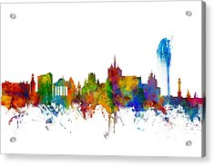 Geneva Switzerland Skyline Acrylic Print by Michael Tompsett