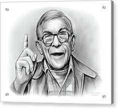George Burns Acrylic Print by Greg Joens