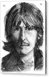 George Harrison Acrylic Print by Daniel Scott