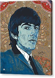 George Harrison Acrylic Print by Suzanne Gee