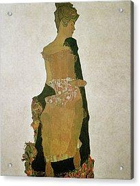 Gerti Schiele Acrylic Print by Egon Schiele