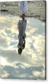 Girl And The Sky Acrylic Print by Joana Kruse