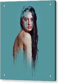 Girl Acrylic Print by Hans Wolfgang Muller Leg