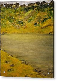 Acrylic Print featuring the painting Glacial Lake by Evelina Popilian