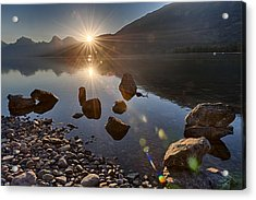Acrylic Print featuring the photograph Glacier National Park 100th Anniversery by Kevin Blackburn