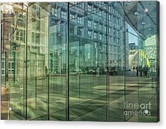 Acrylic Print featuring the photograph Glass Panels At Le Grande Arche by Patricia Hofmeester