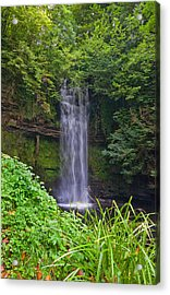 Glencar Waterfall Is Situated Acrylic Print by Panoramic Images