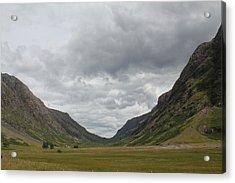 Acrylic Print featuring the photograph Glencoe Pass  by David Grant