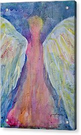 Glowing Angel Acrylic Print by Jeanne MCBRAYER