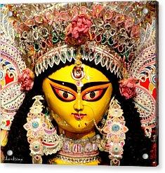 Goddess Durga Acrylic Print by Chandrima Dhar