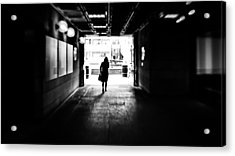 Going Back Home - Dublin, Ireland - Black And White Street Photography Acrylic Print by Giuseppe Milo