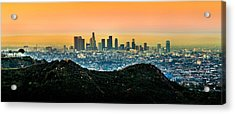 Golden California Sunrise Acrylic Print by Az Jackson
