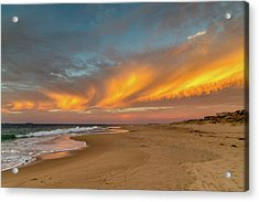 Golden Clouds Acrylic Print
