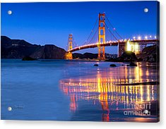 Golden Gate Night View Acrylic Print