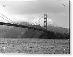 Golden Gate Acrylic Print by Ofelia  Arreola