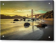 Golden Gate Sunset Acrylic Print