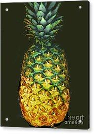 Golden Pineapple Acrylic Print by Merton Allen