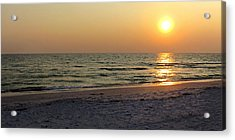 Golden Setting Sun Acrylic Print