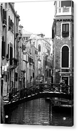 Gondola Ride In Venice Acrylic Print by Greg Sharpe