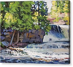 Gooseberry Falls Acrylic Print by Larry Seiler