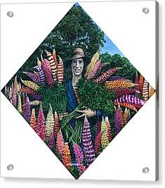 Grace Amongst Lupins Acrylic Print by Steve Wyburn