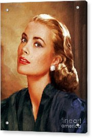 Grace Kelly, Actress And Princess Acrylic Print by Mary Bassett