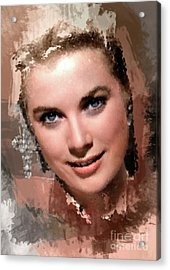 Grace Kelly, Vintage Hollywood Actress Acrylic Print by Mary Bassett