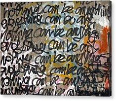 Graffiti Writing Acrylic Print by Yali Shi