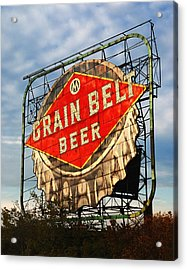 Grain Belt Beer Sign Acrylic Print by Jim Hughes