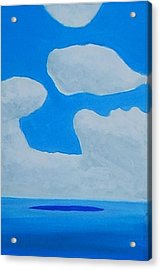 Grand Bahama Cloudscape Acrylic Print by Dick Sauer