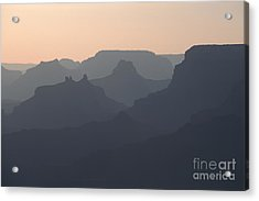 Grand Canyon Pastel Acrylic Print by Stan and Anne Foster
