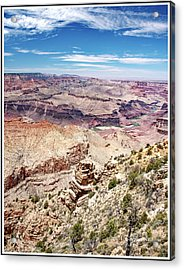 Grand Canyon View From The South Rim, Arizona Acrylic Print by A Gurmankin
