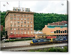 Grand Concourse Station Square Pittsburgh Pennsylvania Acrylic Print by Amy Cicconi