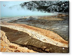 Grand Prismatic Pool In Yellowstone National Park Acrylic Print by Pierre Leclerc Photography