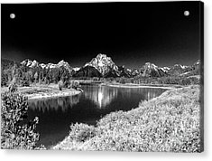 Acrylic Print featuring the photograph Grand Tetons by Nigel Fletcher-Jones