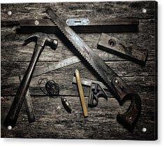 Granddad's Tools Acrylic Print by Mark Fuller