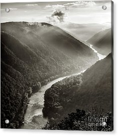 Grandview In Black And White Acrylic Print