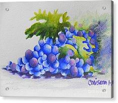 Grapes Acrylic Print by Chrisann Ellis