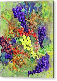 Grapes On The Vine Art 3 Acrylic Print by Ken Figurski