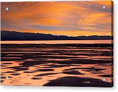 Great Salt Lake Sunset Acrylic Print by Utah Images