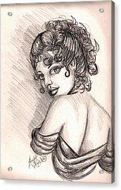 Greek Goddess Acrylic Print by Scarlett Royal