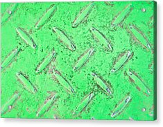 Green Metal Acrylic Print