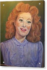 Greer Garson Acrylic Print by Deborah Steinmetz