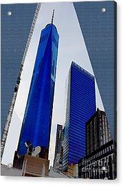 Ground  Zero Freedom Tower Formerly World Trade  Centre Wtc New York Photo Taken On July 4 2015 Usa  Acrylic Print by Navin Joshi