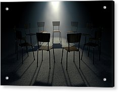 Group Therapy Chairs Acrylic Print