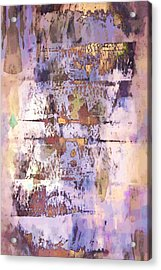 Grungy Abstract  Acrylic Print by Tom Gowanlock