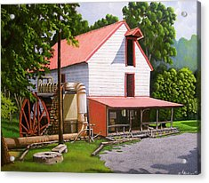 Guilford Mill Acrylic Print by Larry Hoskins